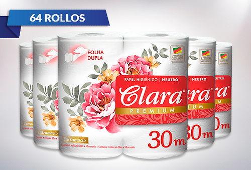 Pack 64 Rollos Papel Higiénico Doble Hoja Premium 30 o 50mts