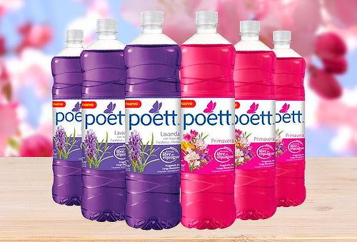 6 Botellas de Limpiador Poett de 900cc
