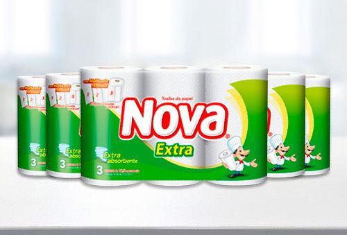 Pack 18 Rollos de Toalla Nova Extra