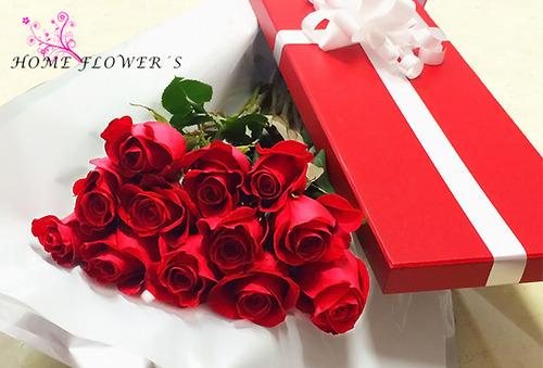 Caja de 12 Rosas tipo Exportacion + Envio 50%