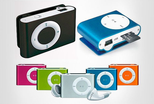 MP3 tipo Shuffle + Cable USb + Audifonos 68%