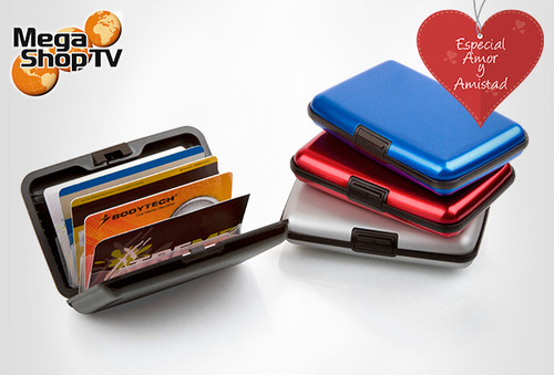 2 Billeteras Aluminio Mega Wallet 70%