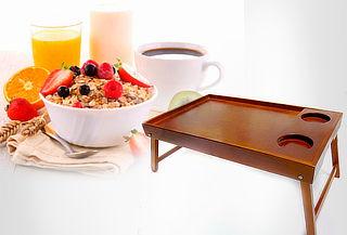 Mesa de Desayuno + Compartimiento de Bebidas