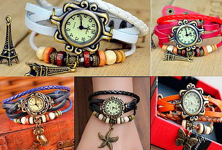 Reloj Pulsera de Cuero Artesanal