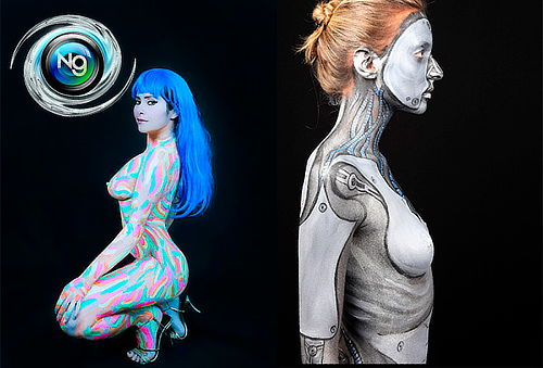 Foto Estudio con Body Paint Neon en Orquideas