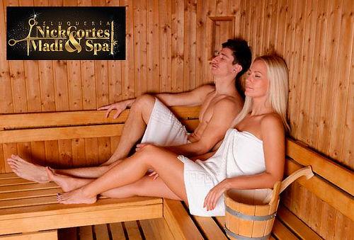 Spa para Dos Personas con Sauna y Jacuzzi