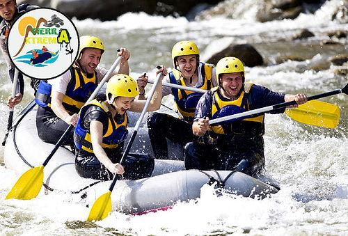 Plan Aventurero con Rafting +  Polígono + Canyoning en Utica
