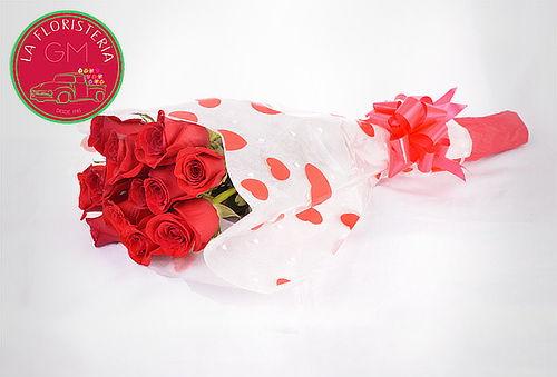 Bouquet de 12 Rosas a Domicilio
