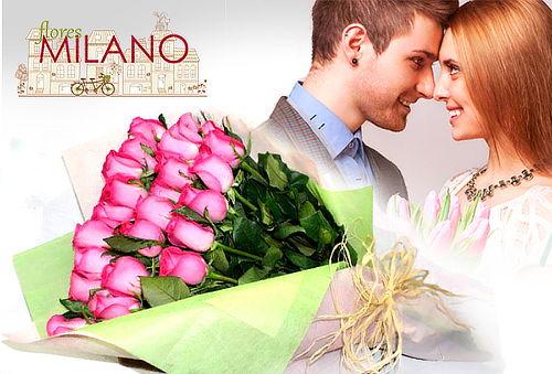 Bouquet de 12 Rosas Tipo Exportación + Envio Incluido