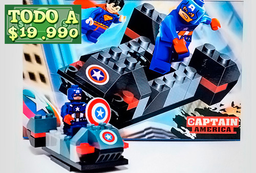 OUTLET - Coleccion Armable Super Heroes + Carro X-men
