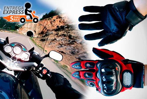 OUTLET - Guantes Moto Negro/M