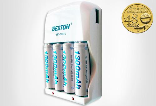 OUTLET - Cargador De Baterias Beston 4 Pcs