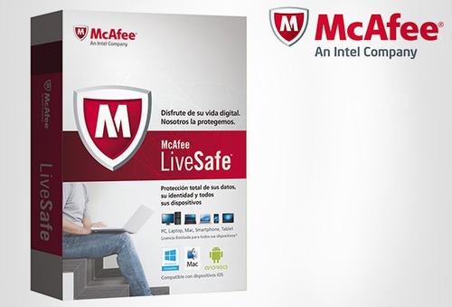 OUTLET - Antivirus Mcafee Livesafe Hasta 10 Pc´s O Dispositivos