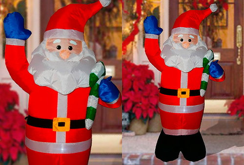 OUTLET - Inflables Con Luz Papa Noel