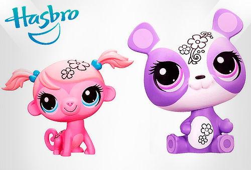 OUTLET - 2 Deco Pets Hasbro Little Pet Shop Deco