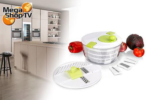 Ensaladera y Rayadora Multifuncional X8 Piezas Salad Spinner