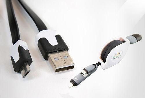 Super Cable 2 Cabezas Micro USB y Iphone 5 y 6