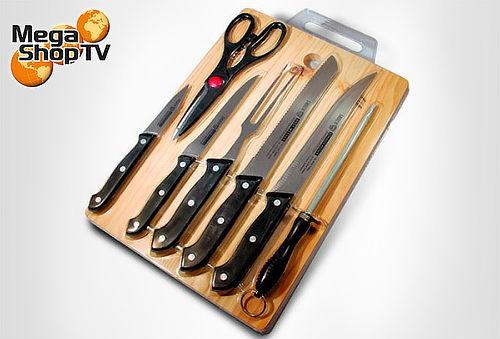 Set de cuchillos con tabla de madera 8 piezas cuponatic for Set cuchillos villeroy boch tabla