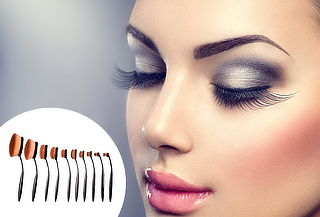 Set de 10 brochas de maquillaje profesional de óvalo 35%