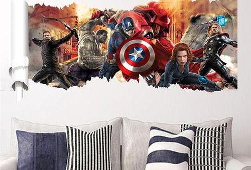 Sticker Avengers  ¡Moderniza tus paredes!