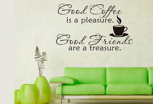 "Vinil ""Life"" o ""Coffe"" Tú eliges ¡Moderniza tus paredes!"