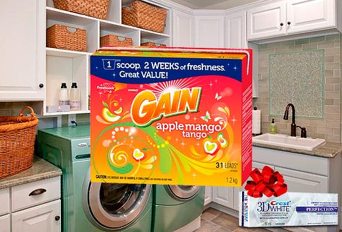 Detergente GAIN en Polvo 1.2 KG Manzana Mango + Regalo 58%