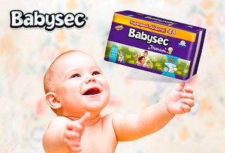 2 ó 3 Paquetes de Pañales BABYSEC Premium 44%
