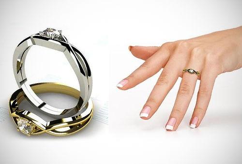 ¡Hermoso! Anillo de Compromiso en Plata u Oro