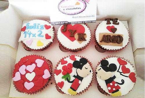 ¡Deliciosos! 6 Cupcakes 3D Personalizados + Delivery
