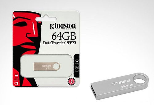 Memoria USB 2.0 Kingston de 8, 16, 32 o 64 GB