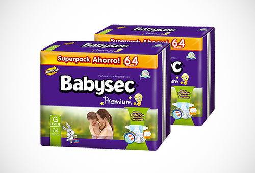 2 ó 3 Paquetes de Pañales BABYSEC Premium