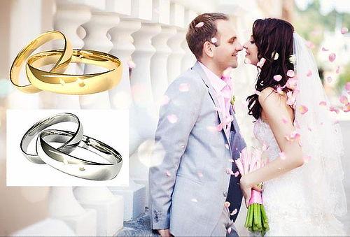 Aros de Matrimonio Enchapados en Oro de 18 Quilates - 47%