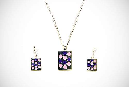 ¡Set de Lujo! Collar + Aretes C&A en Oro o Plata