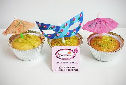 ¡Exquisitos! 6 o 12 Cupcakes 3D Rellenos con Crema de Pisco