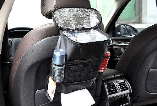 Organizador Multibolsillos para Auto con Interior Térmico