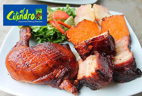 Pollo ó Chancho al Cilindro para 4 - Al Cilindro de Javi