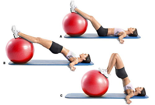 ¡En Forma! Pelota para Aeróbicos y Pilates de 65cm