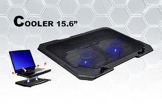 """Cooler Silencioso para Laptop de 14"""" a 15.6"""" Negro"""