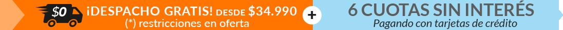DespachoGratisSobre34990 + 6 cuotas sin interés
