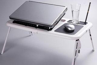Mesa Portátil para Notebook con Ventilador