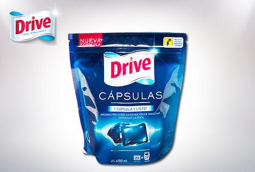 Detergente Drive en Cápsulas. Doypack de 20 Unidades
