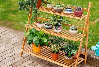 Mueble Repisas de Bamboo Reclinable, Medida a Elección!