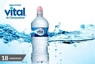 Pack 18 Botellas de Vital SIN GAS 990 cc