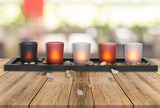 Set de 5 Velas Decorativas