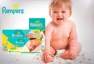 Pañales Pampers  Premium Care.