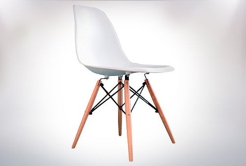Pack 4 sillas modernas eames wood blancas for Sillas modernas chile