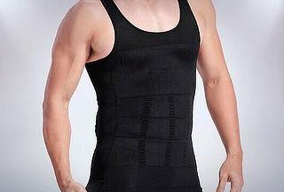 Camiseta reductora sin mangas para hombre