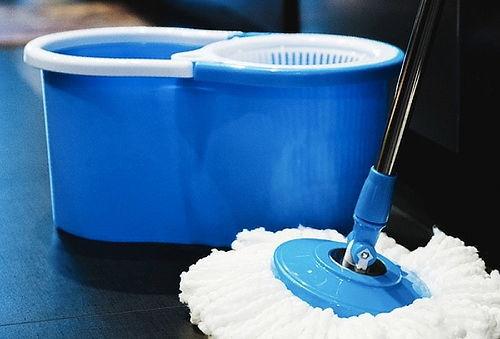 Mopa 360° de Microfibra con Balde Plástico