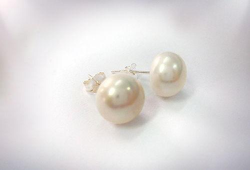 Aros Perlas de Río y Plata 925 de 10 mm