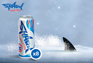 Pack 8 Bebidas Energéticas Shark